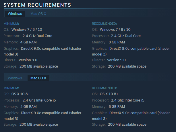 Mercury Fallen :: System Requirements
