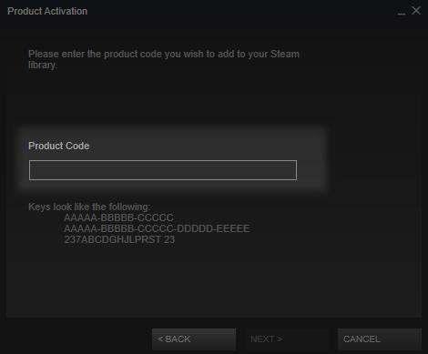 Active Steam Key Step 2